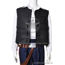 star wars episode iv a new hope cosplay han solo costume halloween