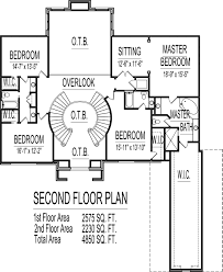 Double Master Bedroom Floor Plans by 4500 Square Foot House Floor Plans 5 Bedroom 2 Story Double Stairs