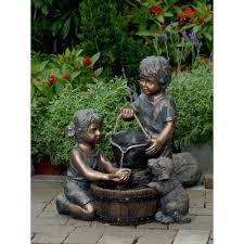 waterfalls for home decor amazon com two kids and dog outdoor indoor water fountain free