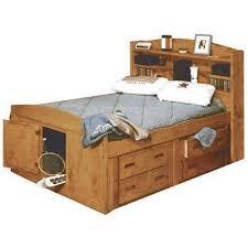 Captain Bed With Desk Bunkhouse Twin Captains Bed 4116 Twincapt Trendwood Usa Afw