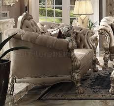 sofa dresden dresden sofa bone velvet by acme