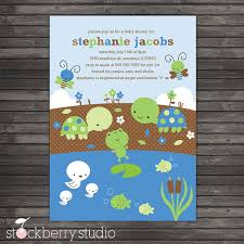 turtle baby shower items similar to boy baby shower invitations turtle baby shower