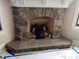 cultured stone veneer fireplace natural stone hearth stamped