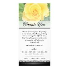 thank you cards for funeral funeral thank you cards greeting photo cards zazzle