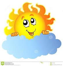 sun holding cloud stock vector illustration of