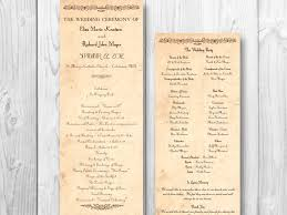 rustic wedding program template wedding ceremony program template europe tripsleep co