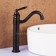 Antique Bronze Tall Vessel Mount Bathroom Sink Faucet Antique Bronze Bathroom Fixtures