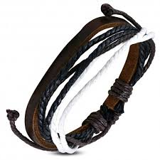 bracelet homme images Bracelet homme en cuir zense zb0062 avec cordes multi couleurs jpg