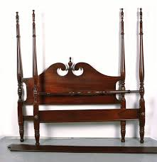 queen anne mahogany four poster bed frame ebth