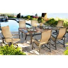 slate outdoor dining table majorca 7 piece outdoor dining set with 4 sling dining chairs and 2