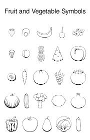 fruit and vegetable symbols on behance