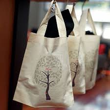 12 x 14 birds tree personalized canvas tote gift bags