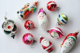 vintage glass tree ornaments with regard to vintage