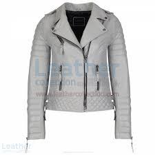 biker jacket women shop biker womens grey quilted leather jacket women