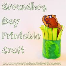 educated mother groundhog printable craft