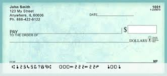 vintage blue marble personal checks