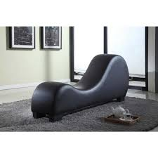 Chaise Lounge Chair Black Faux Leather Chaise Lounge Cl 10 The Home Depot