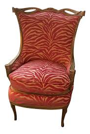 zebra print desk accessories pink zebra print upholstered chair with gold frame chairish
