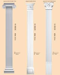 china pu decorative roman pillars romantic column for interior