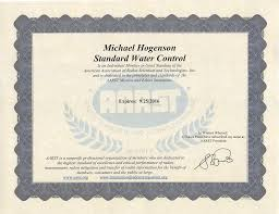credentials standard water control systems inc