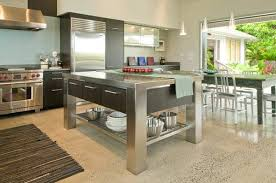 stainless steel kitchen island with seating stainless steel kitchen island table s stainless steel kitchen