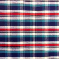 cotton fabric plaid fabric red plaid fabric blue plaid