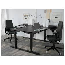 Ikea Stand Up Desks by Bekant Corner Desk Right Sit Stand Birch Veneer White Ikea