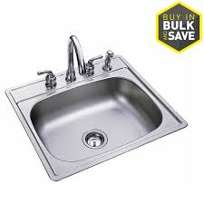Drop In Kitchen Sinks Shop Kindred Essential 25 In X 22 In Single Basin Stainless Steel