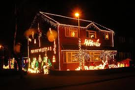 house decorated with christmas lights at david ayrton