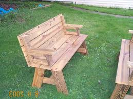 Folding Picnic Table Bench Plans Free by Convertible Garden Bench To Picnic Table Plans Free Folding Pdf