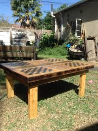 Outdoor Checker Table Made From Checkered Chess Coffee Table Step 10 Cheri Tree Cheri Tree