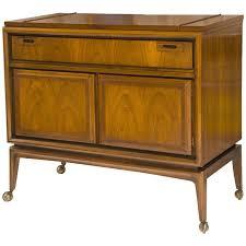 Flip Top Bar Cabinet Mid Century Custom Flip Top Bar Cabinet At 1stdibs