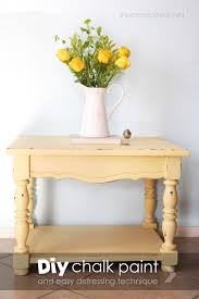How To Make A Wooden End Table by How To Make Chalk Paint Pictured Tutorial