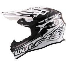 black motocross bike wulf sceptre motocross helmet wulfsport off road sports mx quad