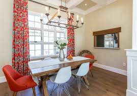 Dining Room Table Runners Orange Red Dining Room Transitional With Table Runner Pendant