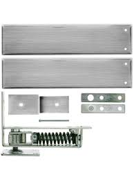 Double Swing Door Standard Duty Swinging Door Floor Hinge With Plated Steel Cover