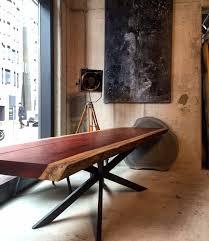Esszimmergruppe Nussbaum Esstisch Baumtisch Unverleimt Aus Einem Stück Padouk Holz