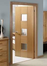 Interior Doors Uk Catalonia Oak Pre Glazed Pre Finished Interior Door