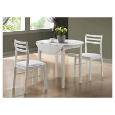 Target Kitchen Table And Chairs Dining Table And Chairs White Set Of 3 Everyroom Target