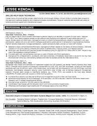 Sle Resume For Service Desk Desktop Support Help Desk Resume