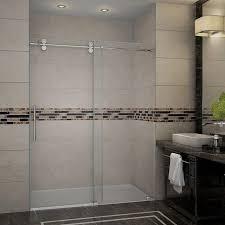 Frameless Shower Doors Miami Sliding Doors Vigo 60 Inch Clear Glass Frameless Shower Door