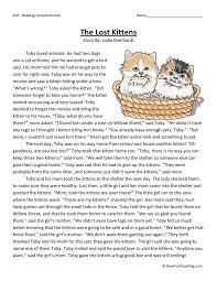 the lost kittens english pinterest reading comprehension