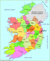 Dublin Ireland Map Ireland Map Map Of Republic Of Ireland With Cities And Towns
