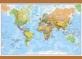 Map Of Jakarta Small World Wall Map Political Wooden Hanging Bars