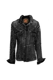 black and gold motorcycle jacket heavy metal black sheep one of a kind