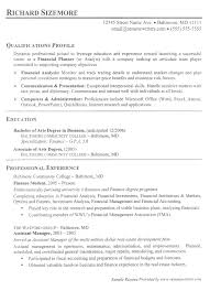 Education For Resume Examples by Financial Analyst Resume Example Financial Services Resumes