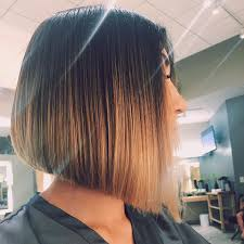brown and blonde ombre with a line hair cut 22 chic a line bob hairstyles hairstyles weekly