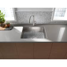 sterling kitchen sinks sterling ludington undermount stainless steel 24 in single bowl