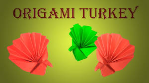 tutorial for origami turkey easy diy paper turkey happy