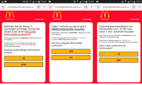 mcdonalds e gift card whatsapp scam extends into countries and brands
